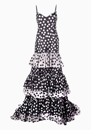 Tiered polka-dot dress
