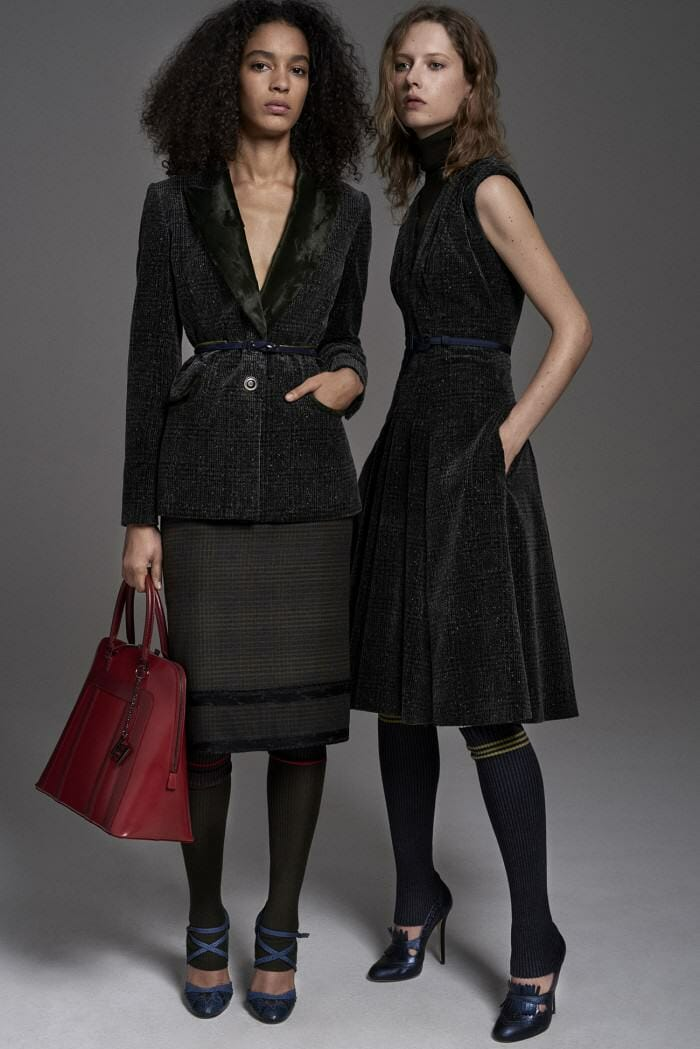 Carolina Herrera New York Pre Fall 2017 Look Models Wearing New Collection Suits