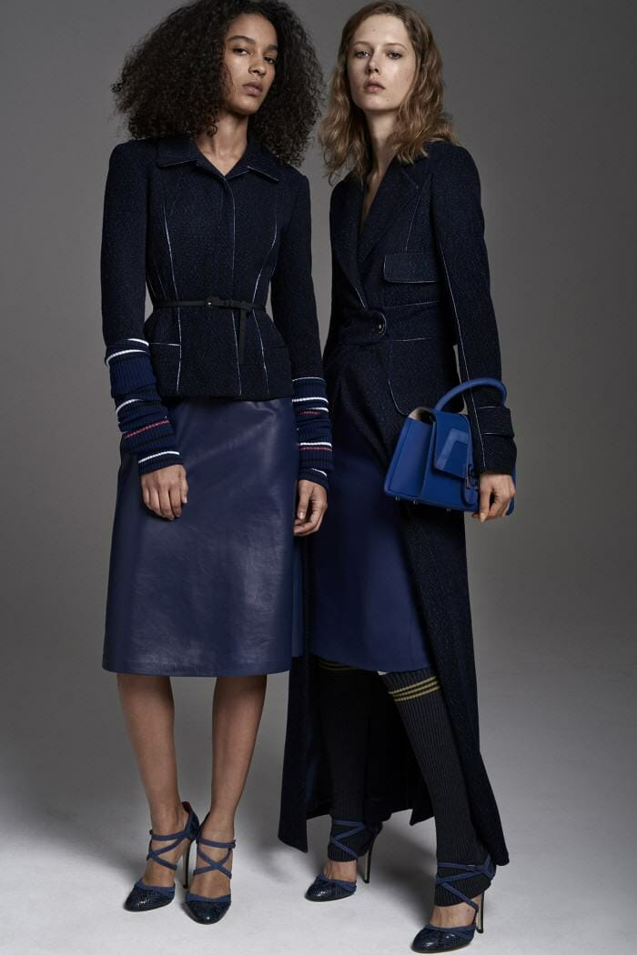 Carolina Herrera New York Pre Fall 2017 Look Models Wearing New Collection Blue suit