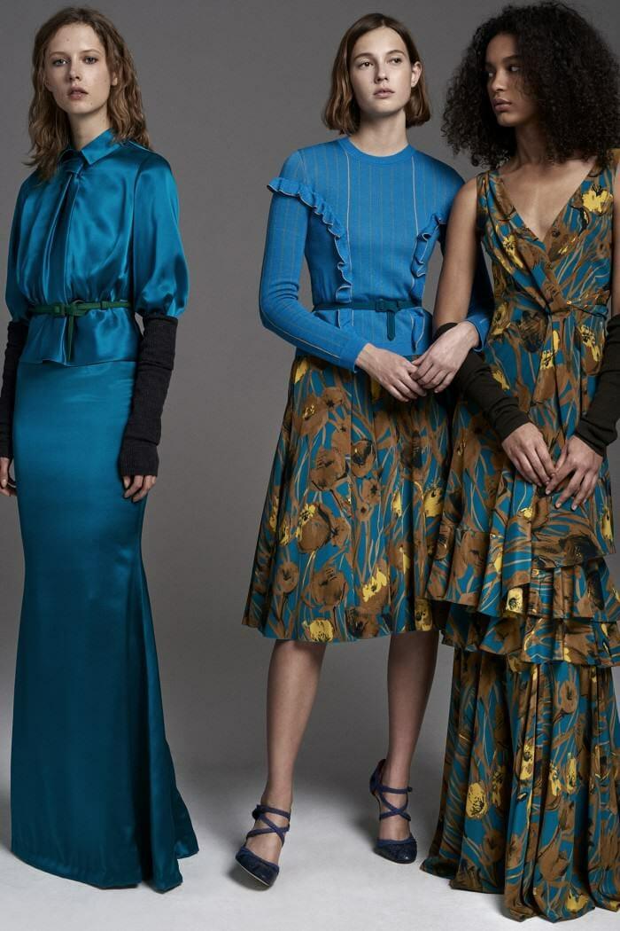 Carolina Herrera New York Pre Fall 2017 Look Models Wearing New Collection Dress Suit Skirt Blouse