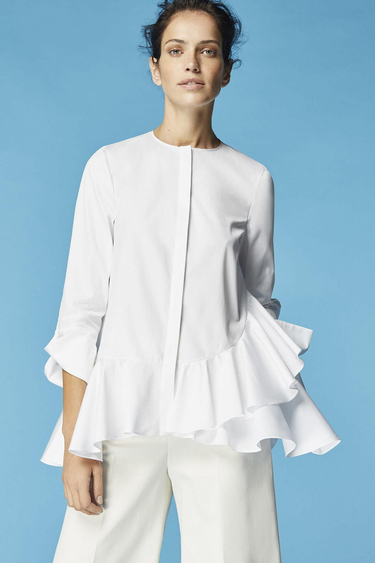 Look 8 carolina herrera for Carolina herrera white shirt collection