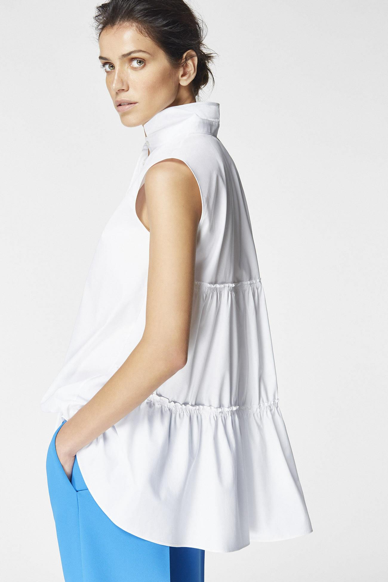 Look 4 carolina herrera for Carolina herrera white shirt collection