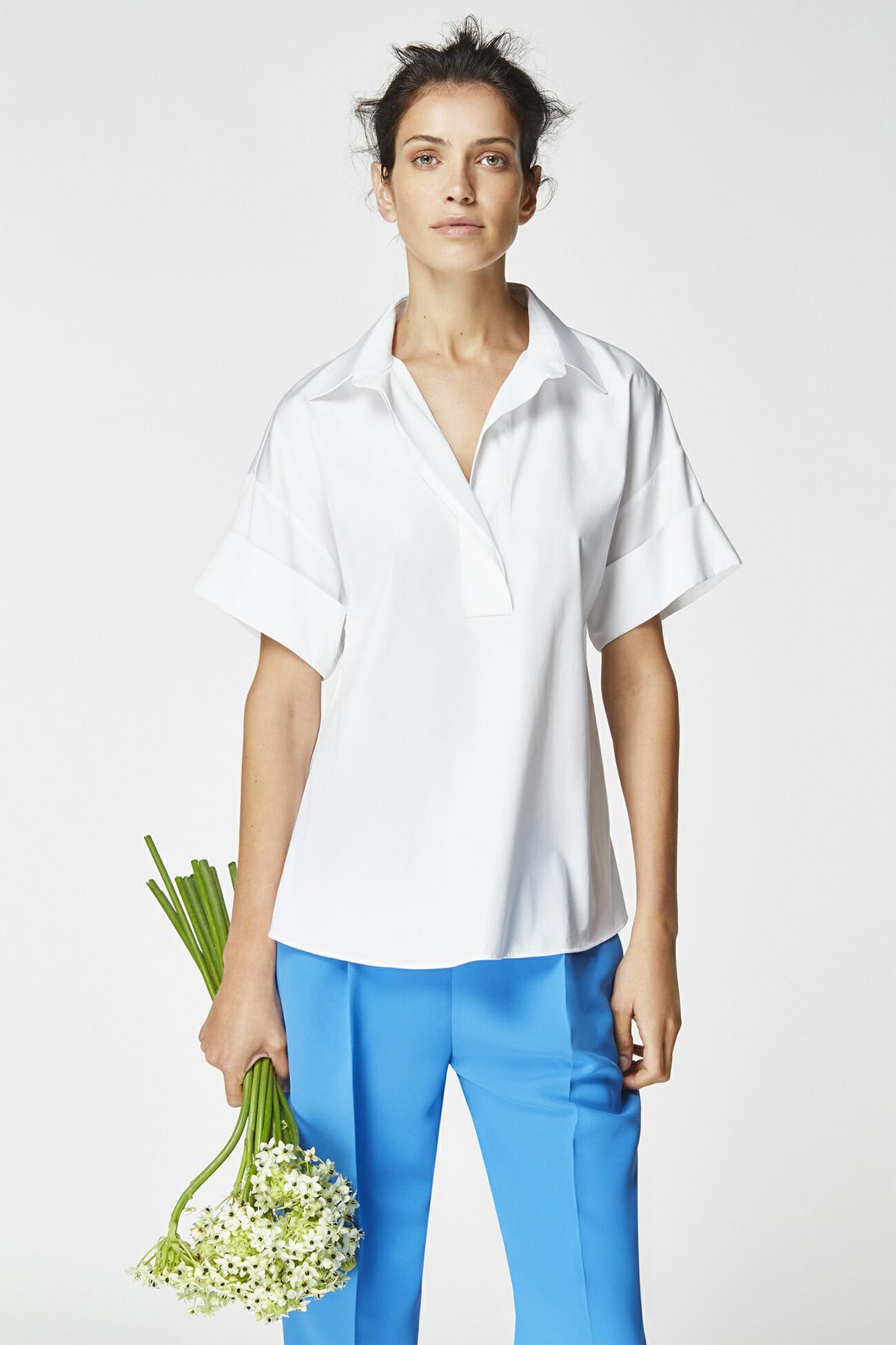 Look 5 carolina herrera for Carolina herrera white shirt collection