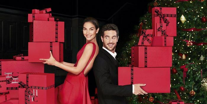Carolina Herrera Holidays Visual With Lily Aldridge and Justice Joslin