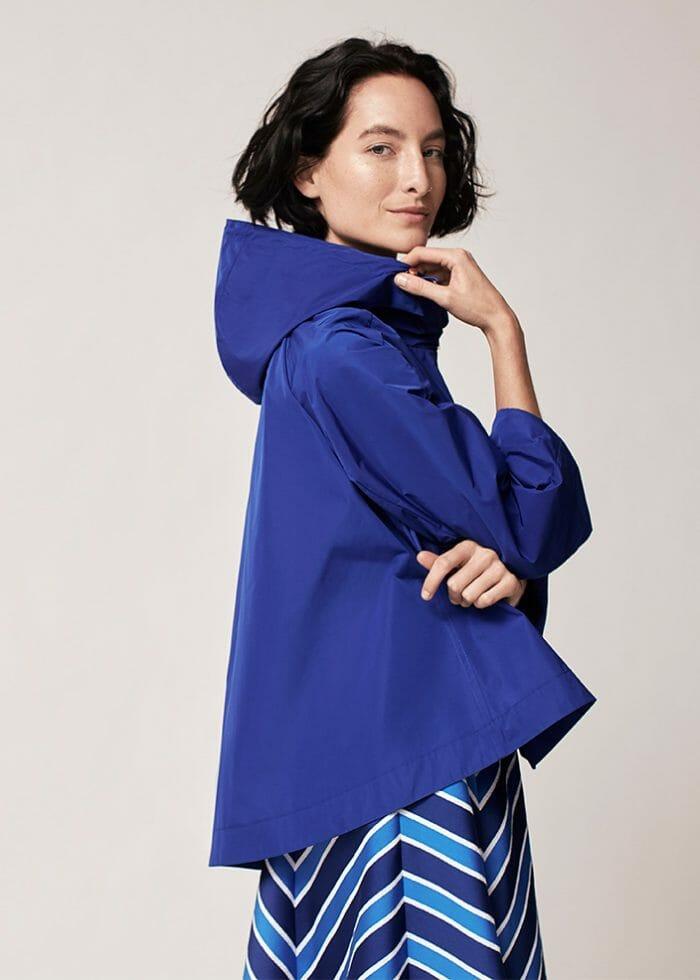CH Carolina Herrera Fashion Womenswear Blue Coat