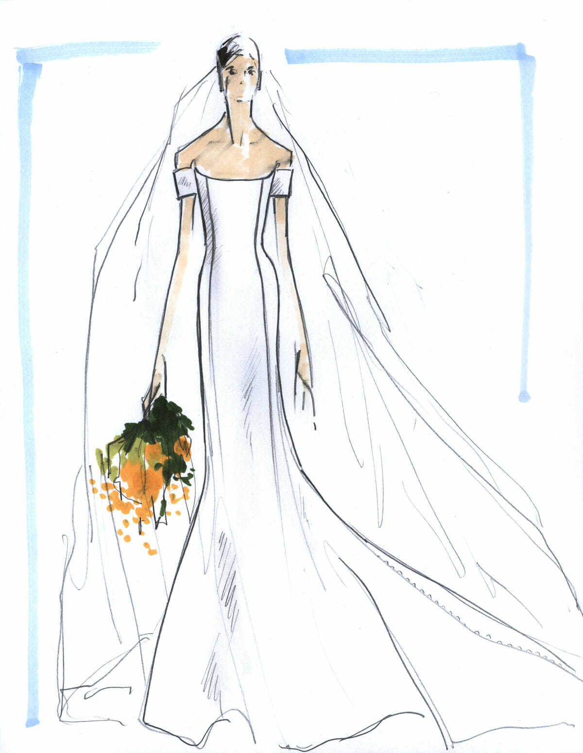 Illustration-of-royal-wedding-gown-carolina-herrera-new-york