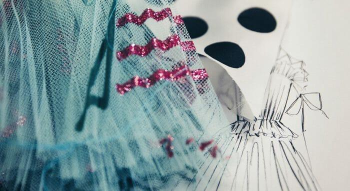 carolina-herrera-fashion-show-dress-sparkle-blue-pink-tulle-sketch