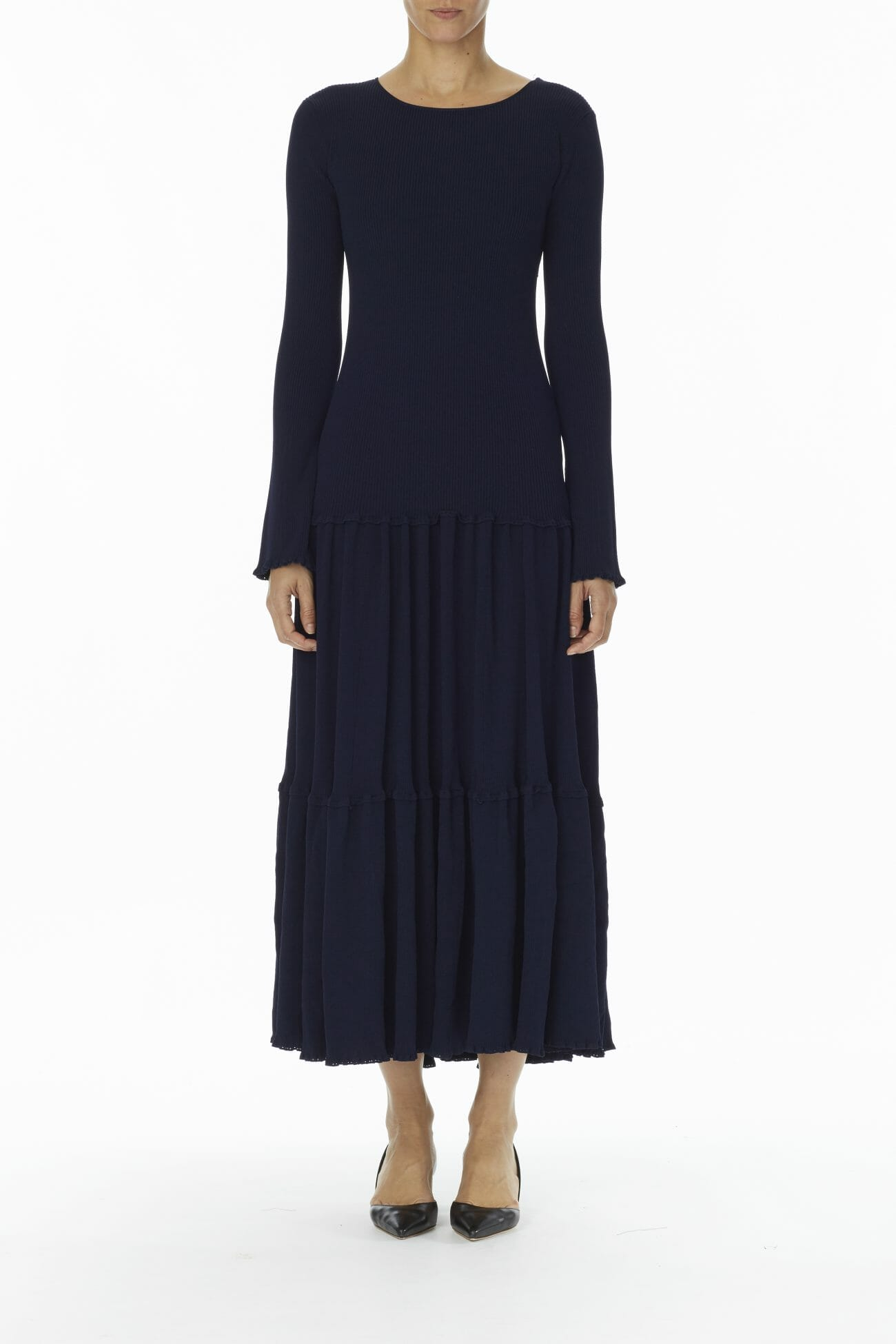 Carolina-Herrera-New-York-Resort-2019-look-150-blue-dress-long-casual