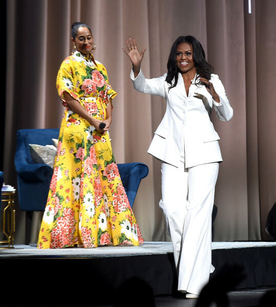 Tracee Ellis Ross blooms on stage with Michelle Obama