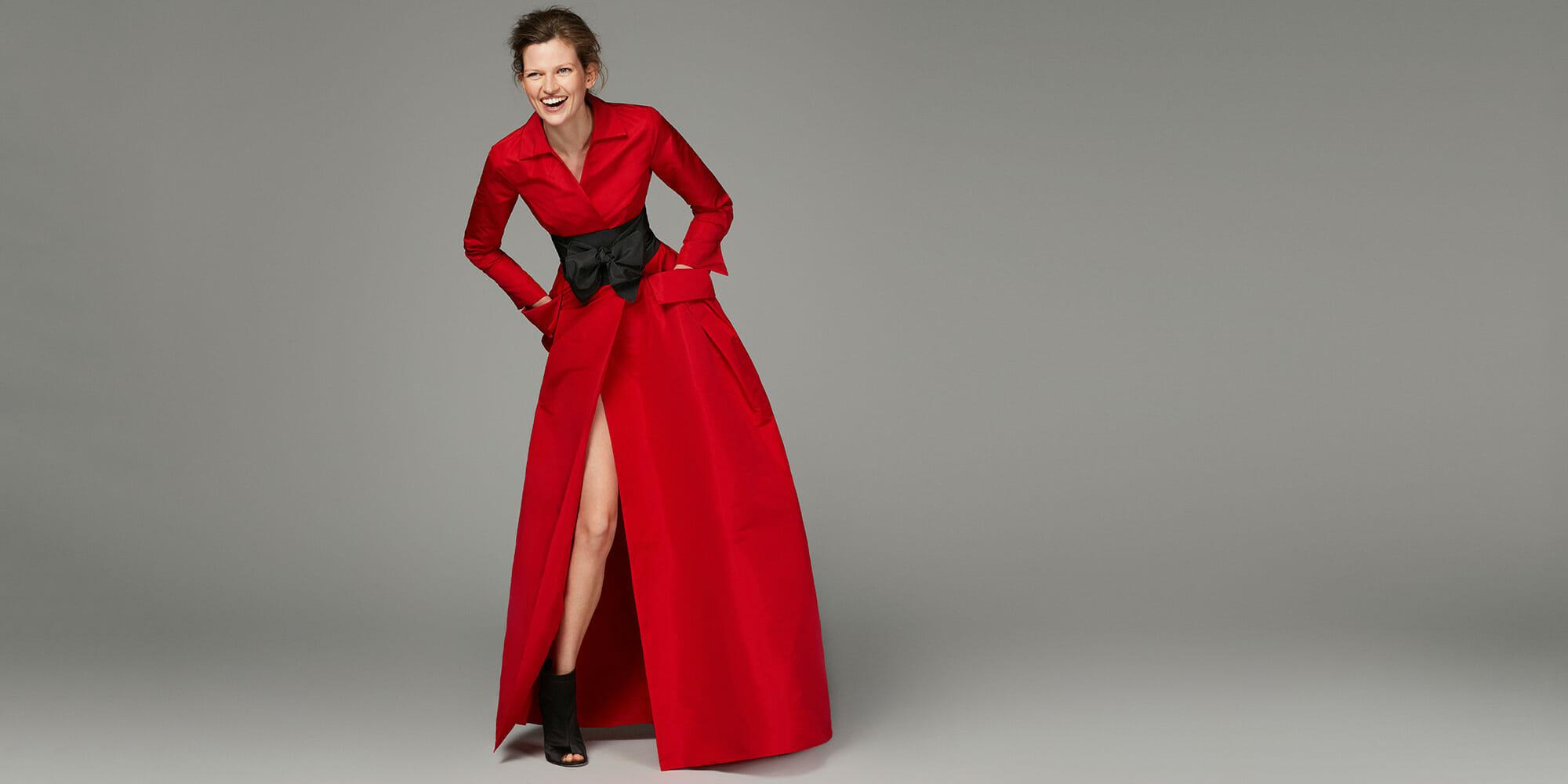 574c5d483 CACHE-COEUR TAFFETA SHIRT DRESS ch carolina herrera red dress