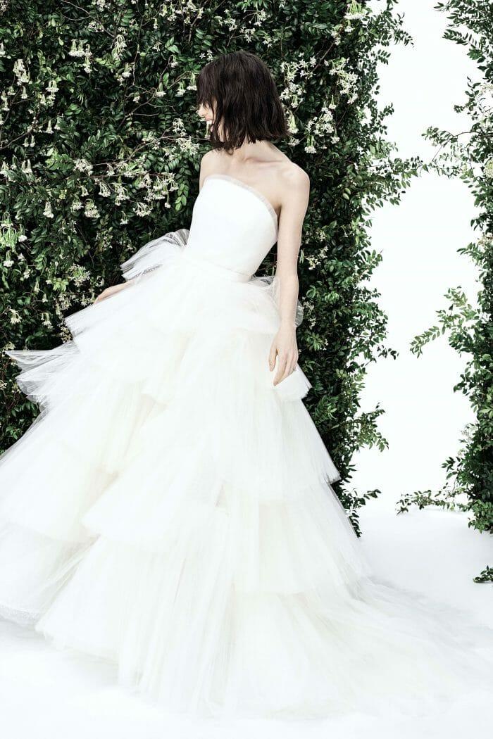 carolina herrera bridal tulle gown spring 2020
