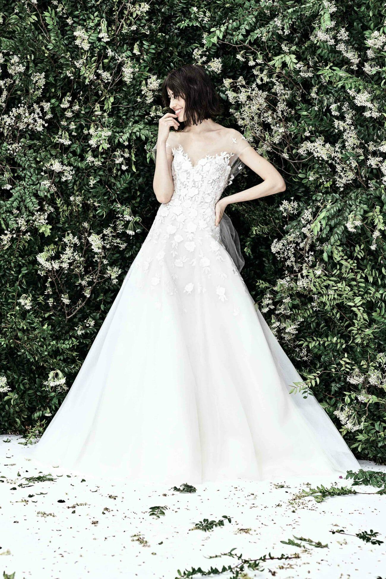 carolina herrera bridal brodery gown spring 2020