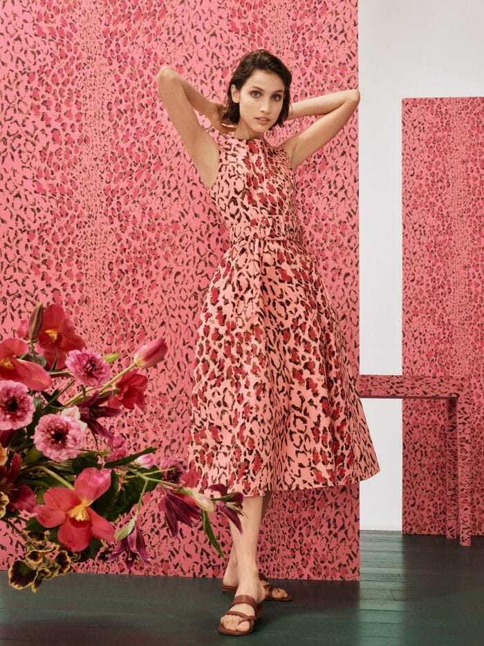carolina herrera new york rose cumming capsule collection model pink leopard