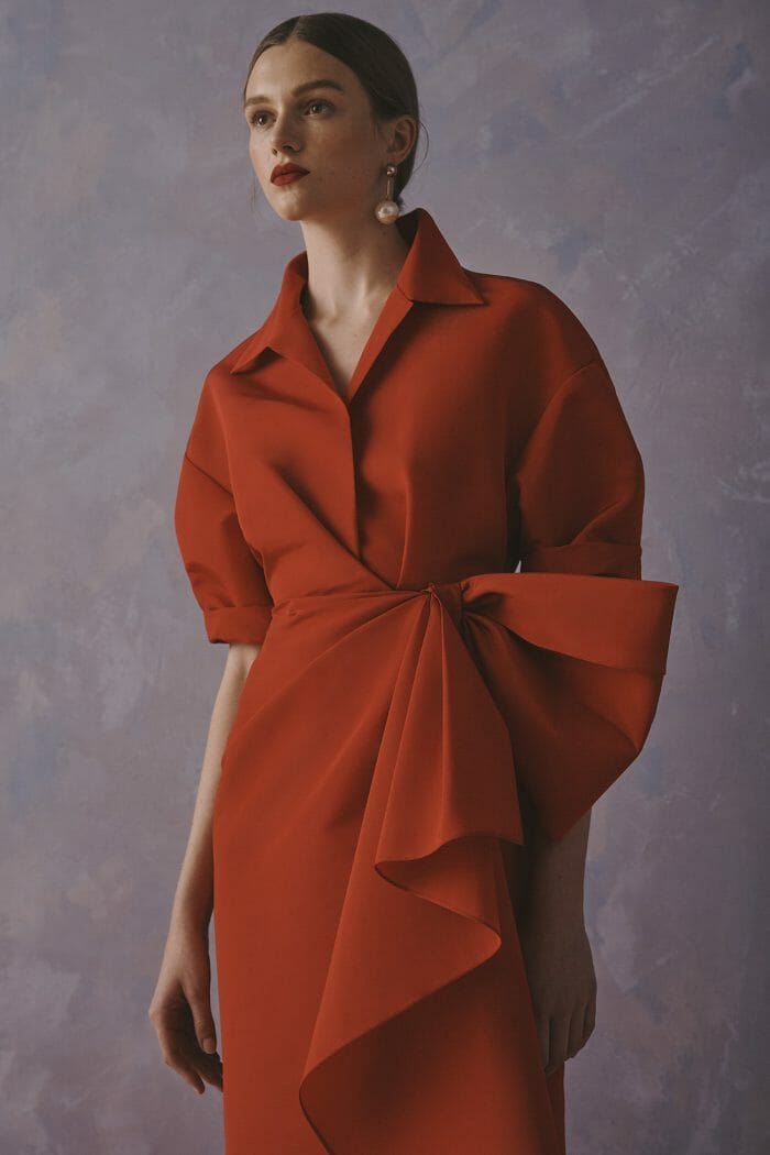 Carolina Herrera New York Resort 2020 Collection red dress