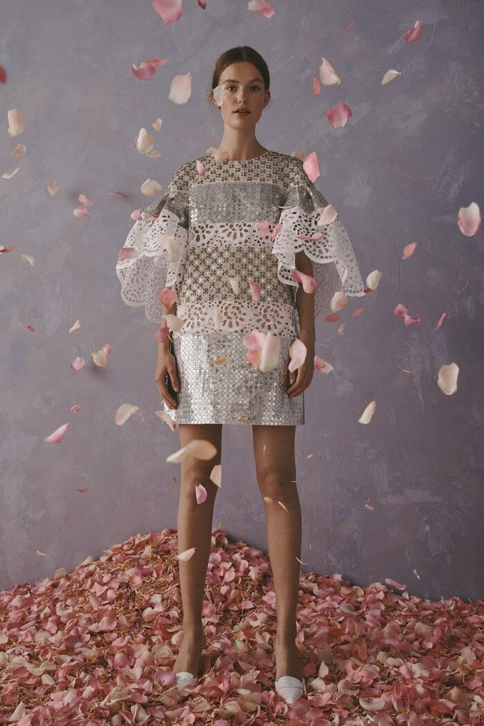 Carolina Herrera New York Resort 2020 Collection crochet glitter dress