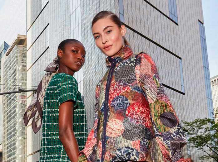 ch carolina herrera models walking in new york wearing fall 2019 campaign