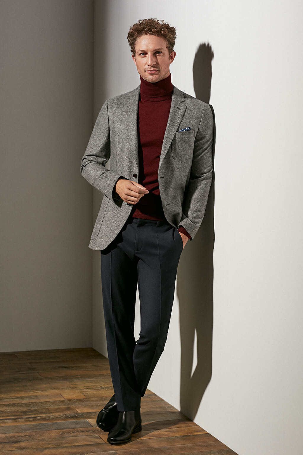 CH Carolina Herrera. New menswear collection Fall Lights. Look 11