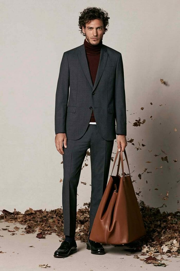 CH Carolina Herrera. New menswear collection Autumn Tales, featured with Matryoshka bag. Look 14