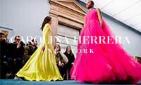 превью carolina herrera нью-йорк мода показ выход моделей