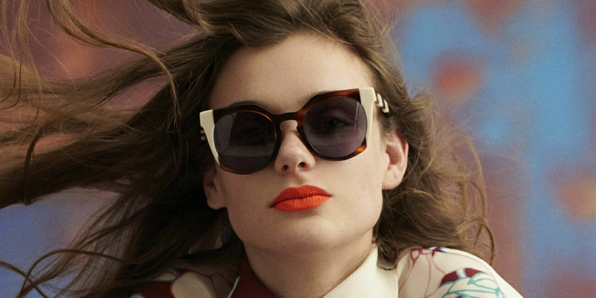 model wearing carolina herrera new york sunglasses fashion