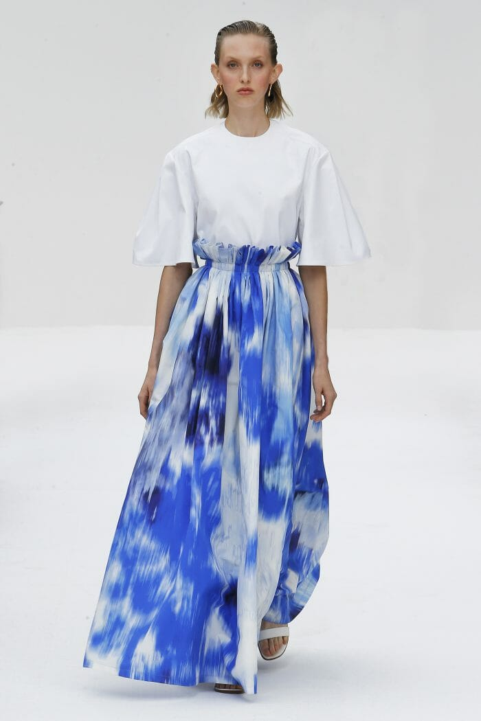 Carolina Herrera New York blue skirt
