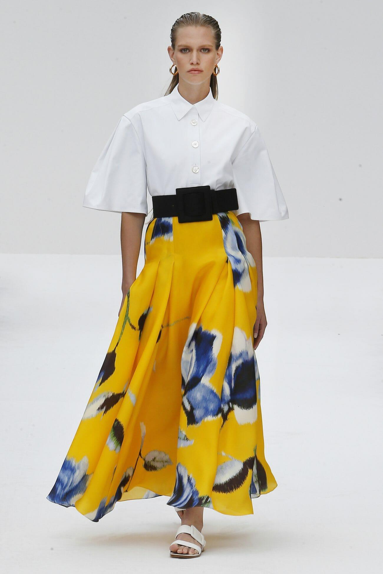 Carolina Herrera New York yellow skirt