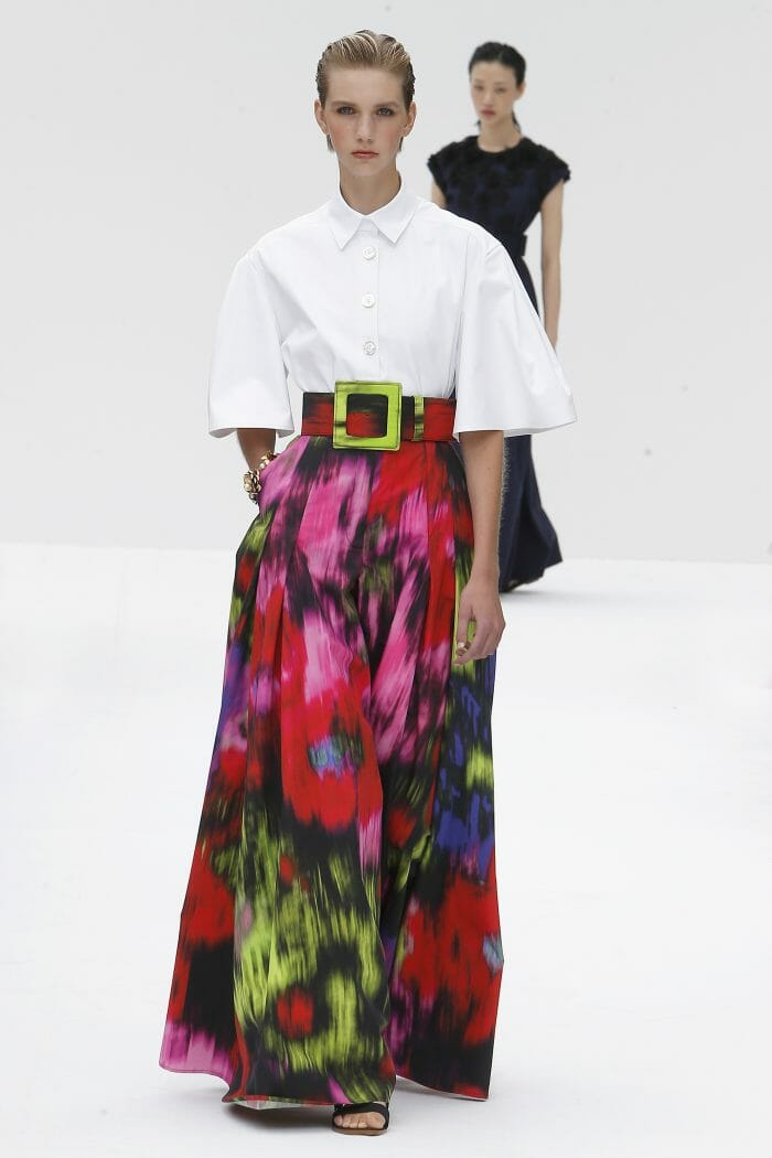 Carolina Herrera New York floral skirt