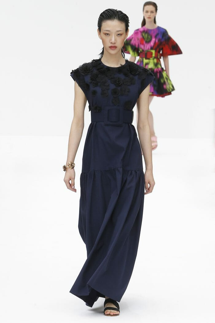Carolina Herrera New York blue navy dress