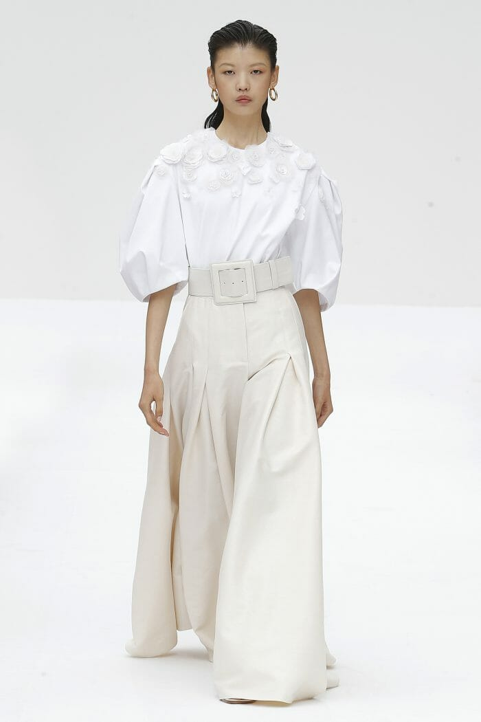 Carolina Herrera New York White T-shirt Flared pants