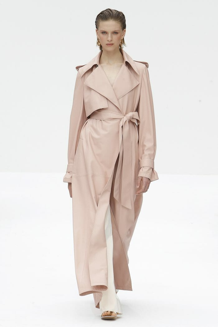 Carolina Herrera New York Pink Trench coat