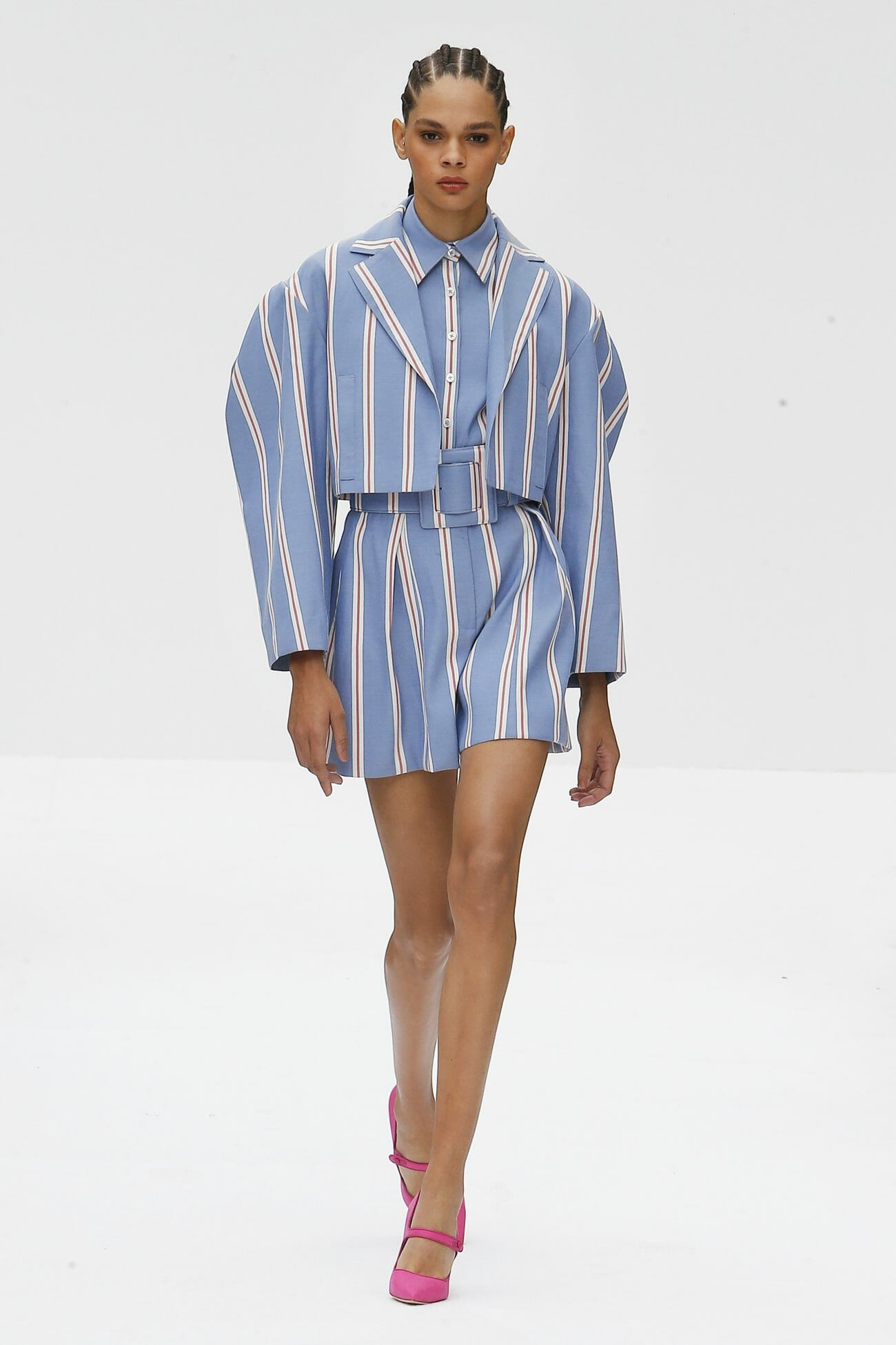 Carolina Herrera New York blue stripes dress