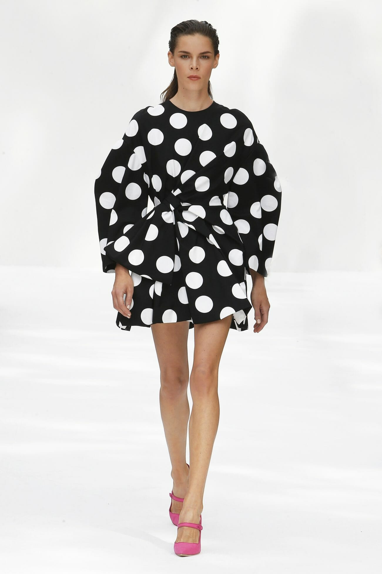 Carolina Herrera New York polka dots mini dress