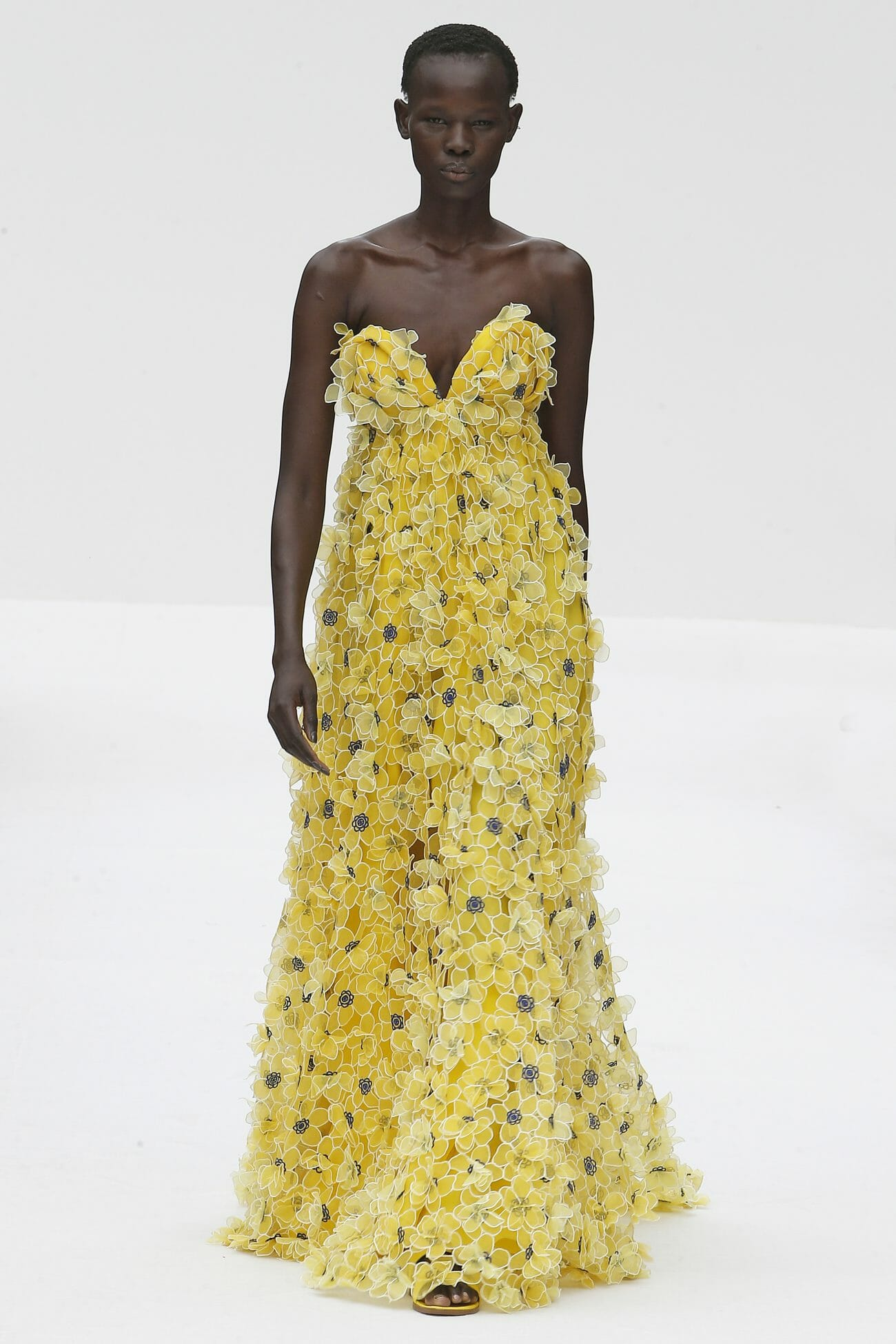 Carolina Herrera New York yellow floral dress