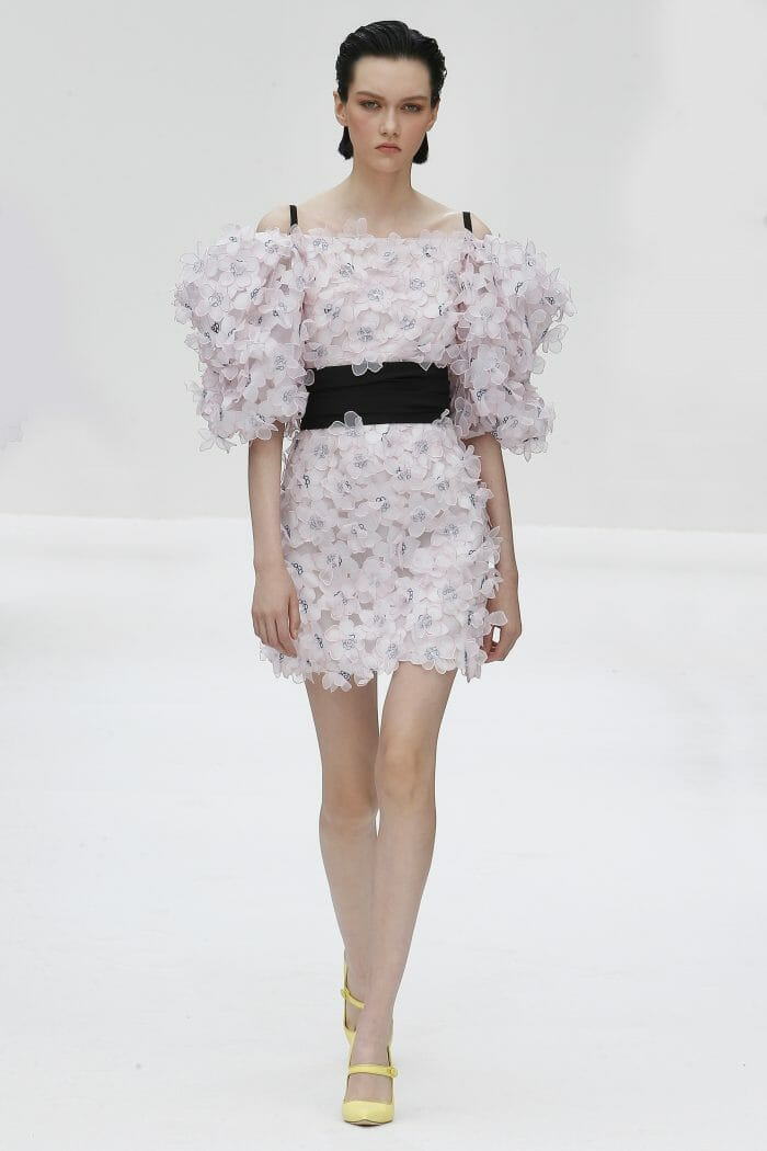 Carolina Herrera New York floral pink mini dress