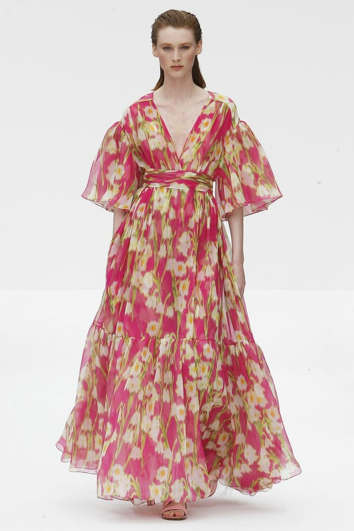Carolina Herrera New York pink floral dress