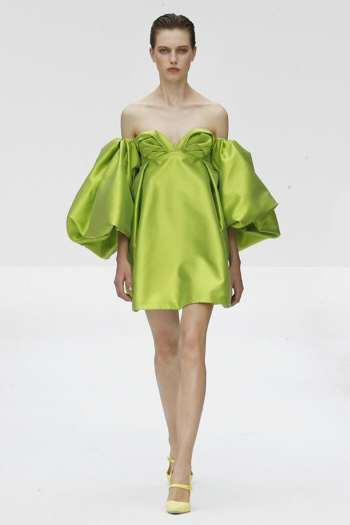 Carolina Herrera New York green mini dress