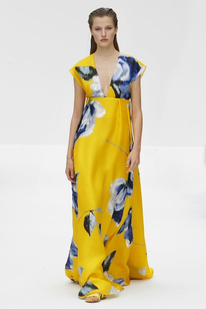 Carolina Herrera New York yellow dress