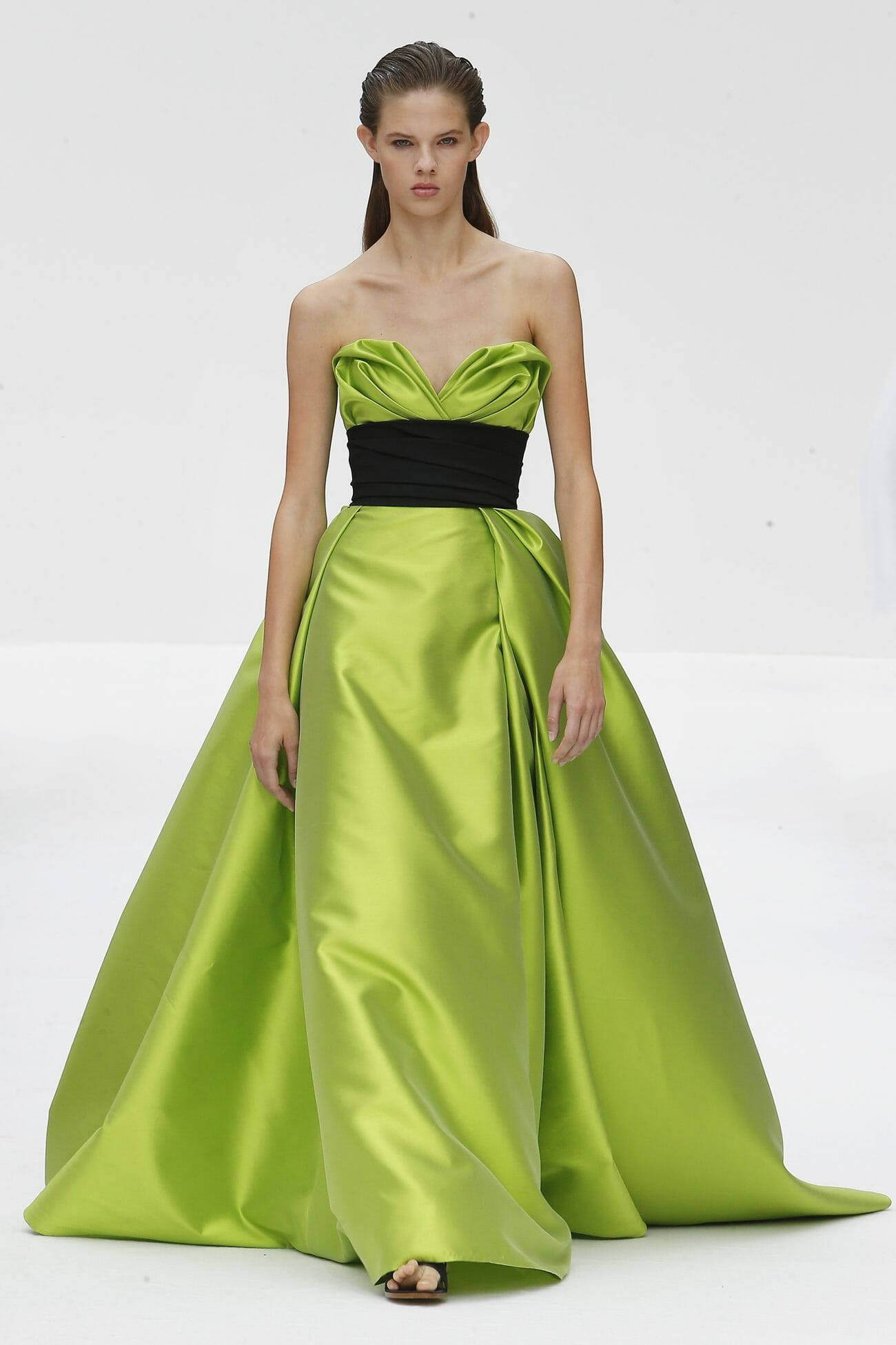 Carolina Herrera New York green dress