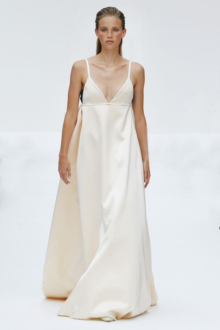 Carolina Herrera New York cream dress