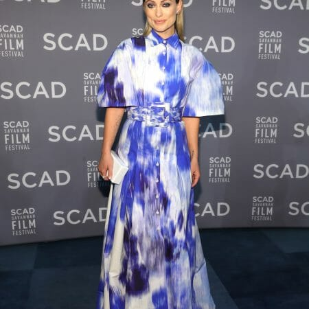 Olivia Wilde charms in Carolina Herrera Spring 2020