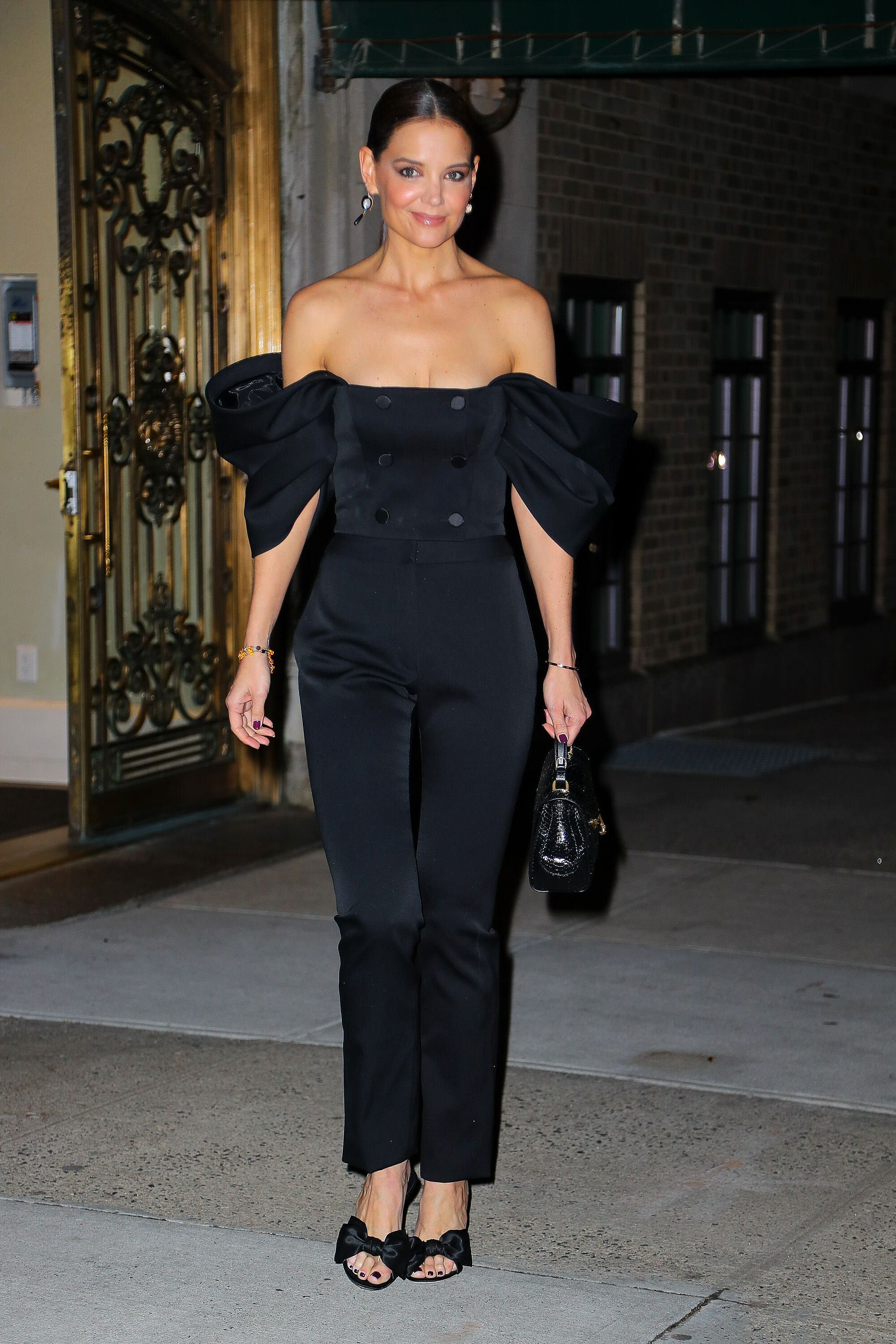 Katie Holmes Captivates In Pre-Fall 2020