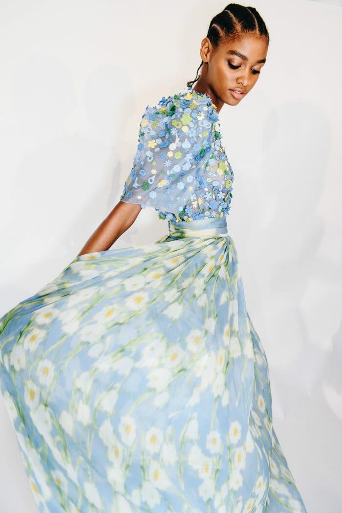 CAROLINA HERRERA NEW YORK SPRING 2020 FLORAL DRESS