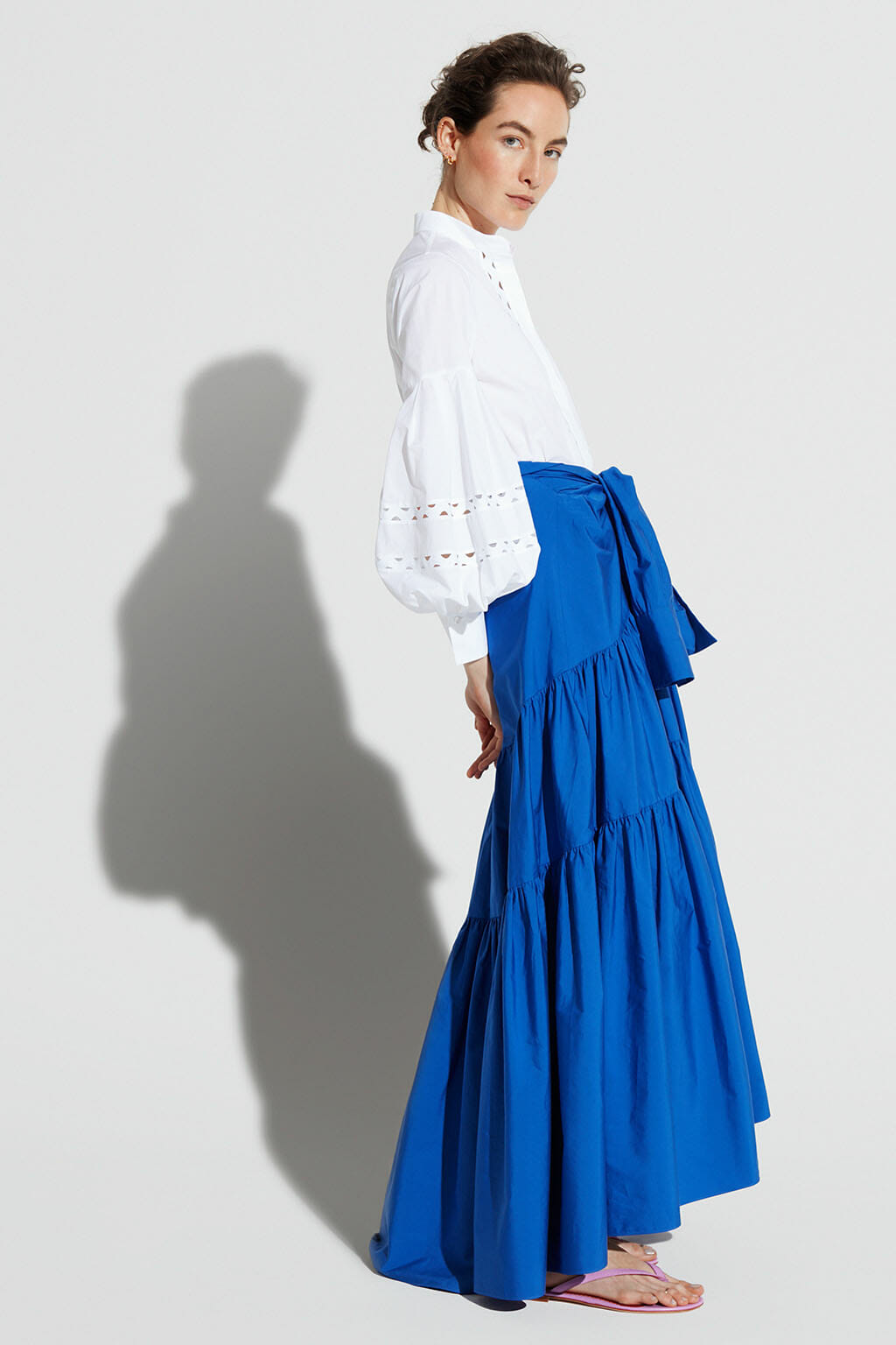 CH Carolina Herrera. New Womenswear Collection Painted in blue. Look 09